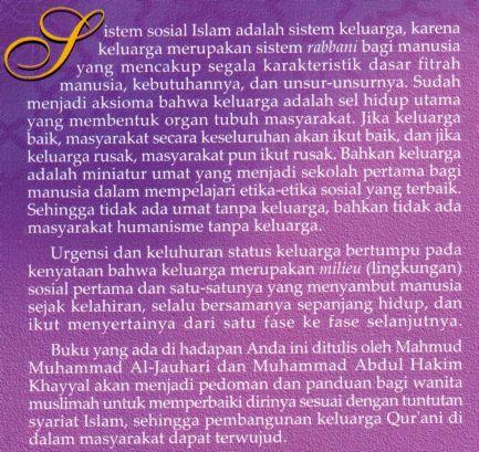 Membangun Keluarga Qurani - Panduan Untuk Wanita Muslimah - Wanita